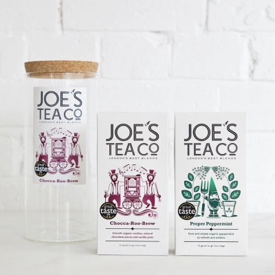 Joe's Tea Co. jar and two teas