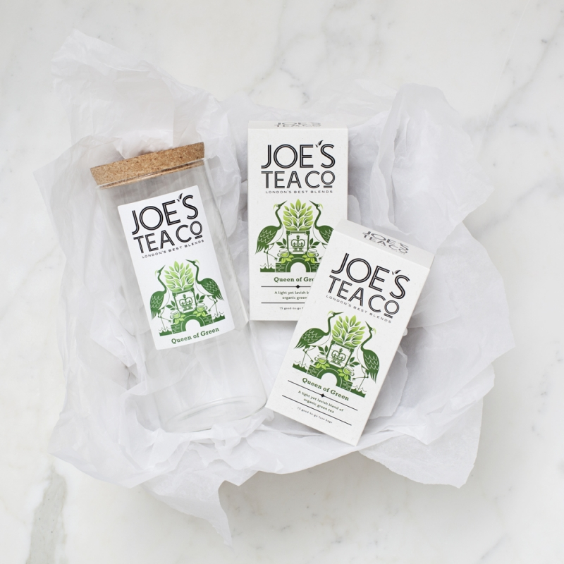 Jar and two teas Joe's Tea Co. gift set