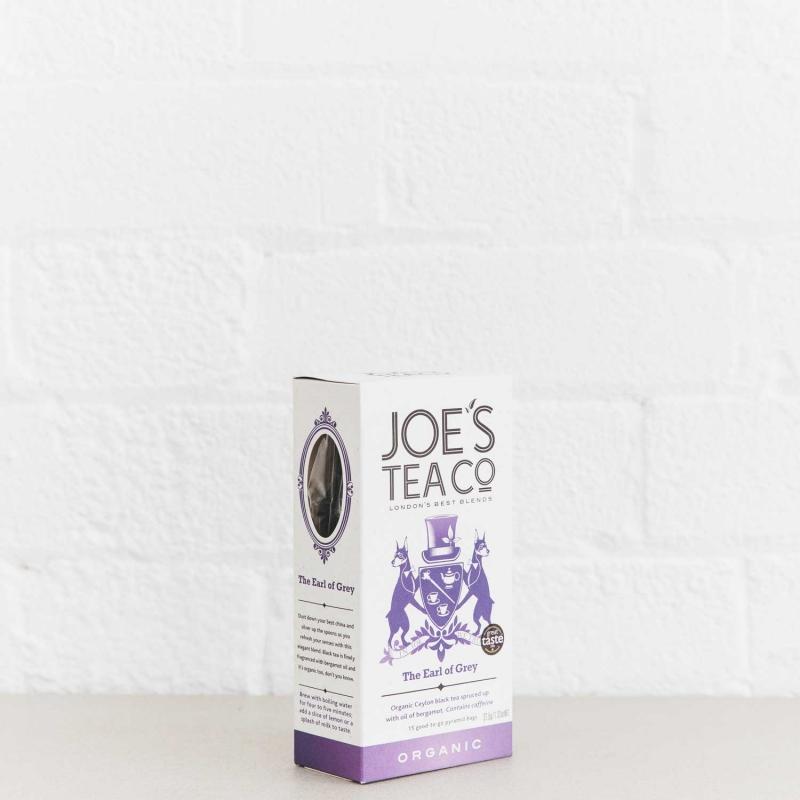The Earl of Grey retail side of pack - Joe's Tea Co.