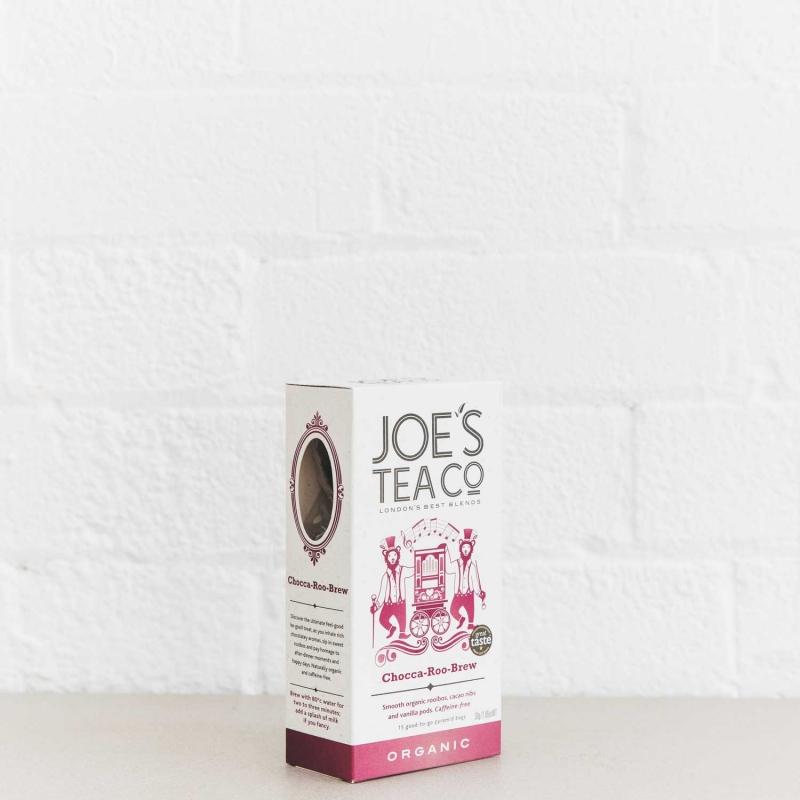 Chocca-Roo-Brew retail side of pack - Joe's Tea Co.
