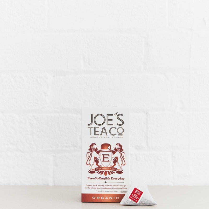 Ever-So-English Everyday retail front of pack with pyramid bag - Joe's-Tea-Co.