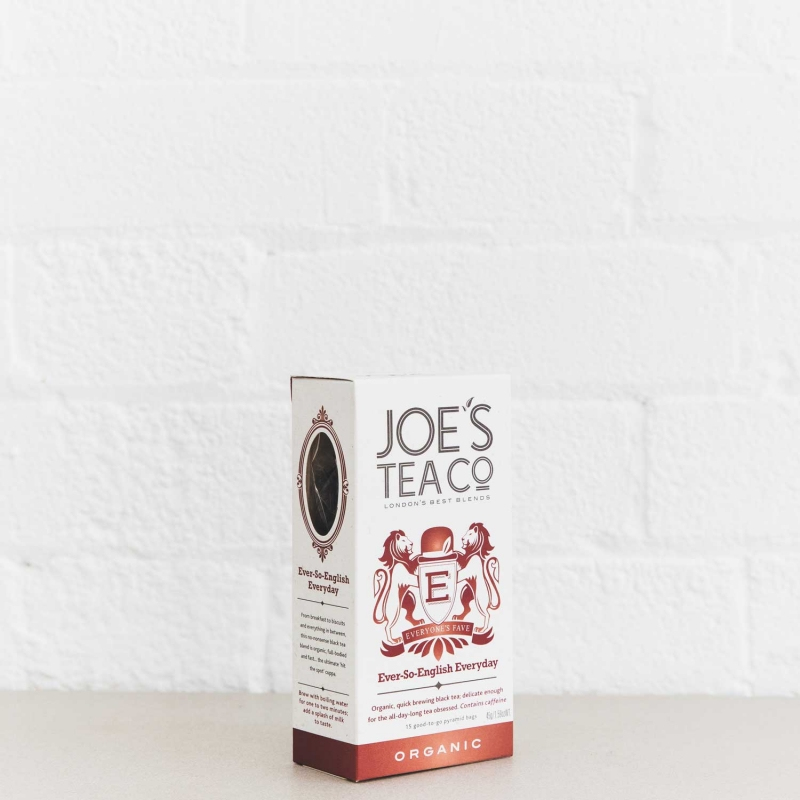 Ever-So-English Everyday retail side of pack - Joe's Tea Co.