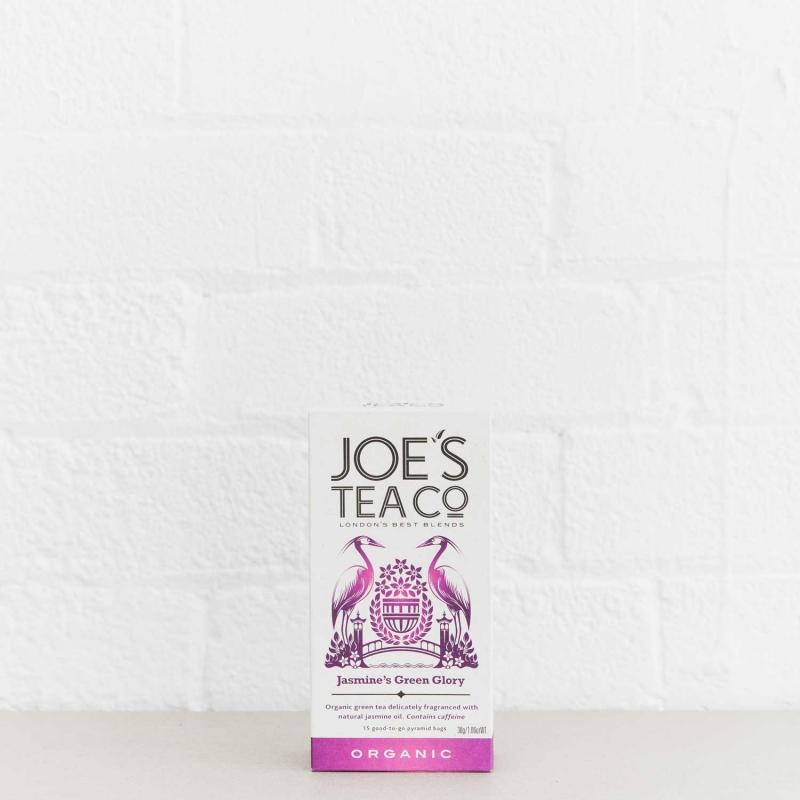 Jasmine's Green Glory retail front of pack - Joe's Tea Co.
