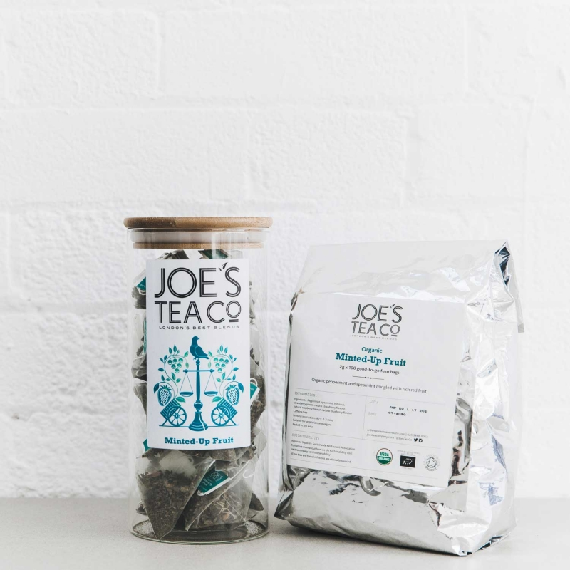 Minted-Up Fruit jar and 100ct - Joe's Tea Co.
