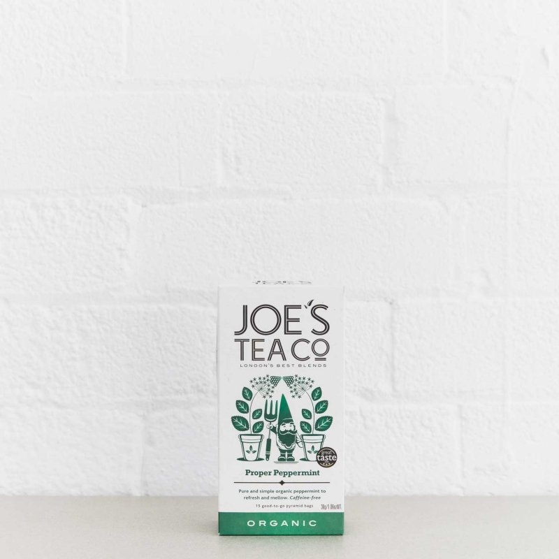 Proper Peppermint retail front of pack - Joe's Tea Co.