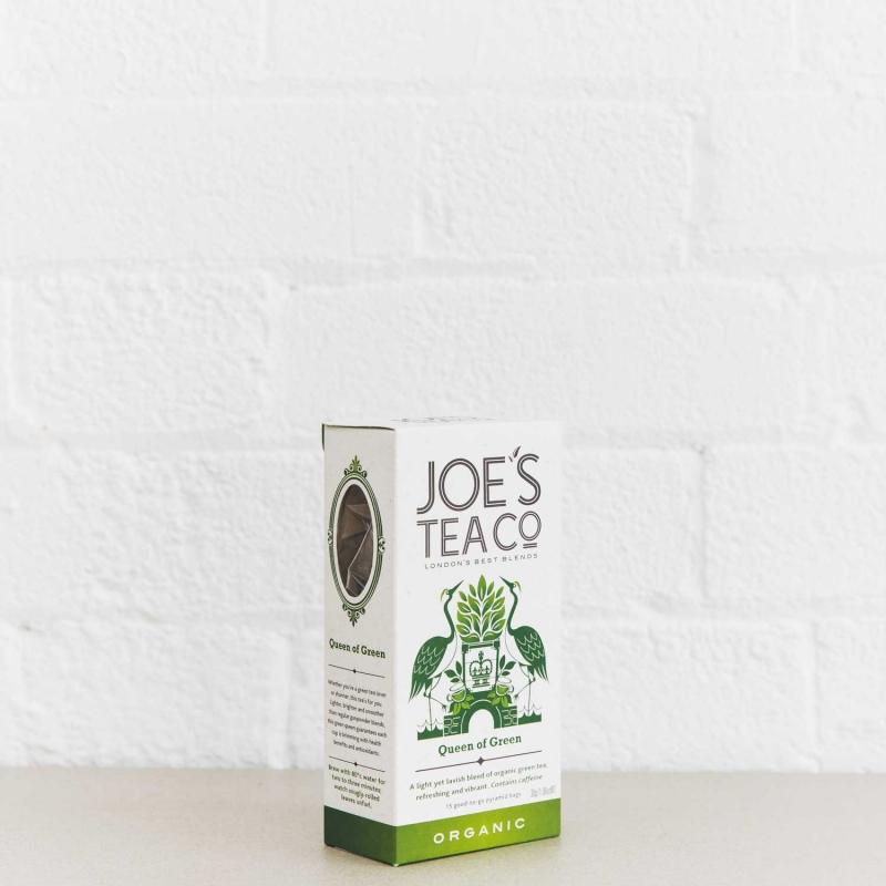 Queen of Green retail side of pack - Joe's Tea Co.