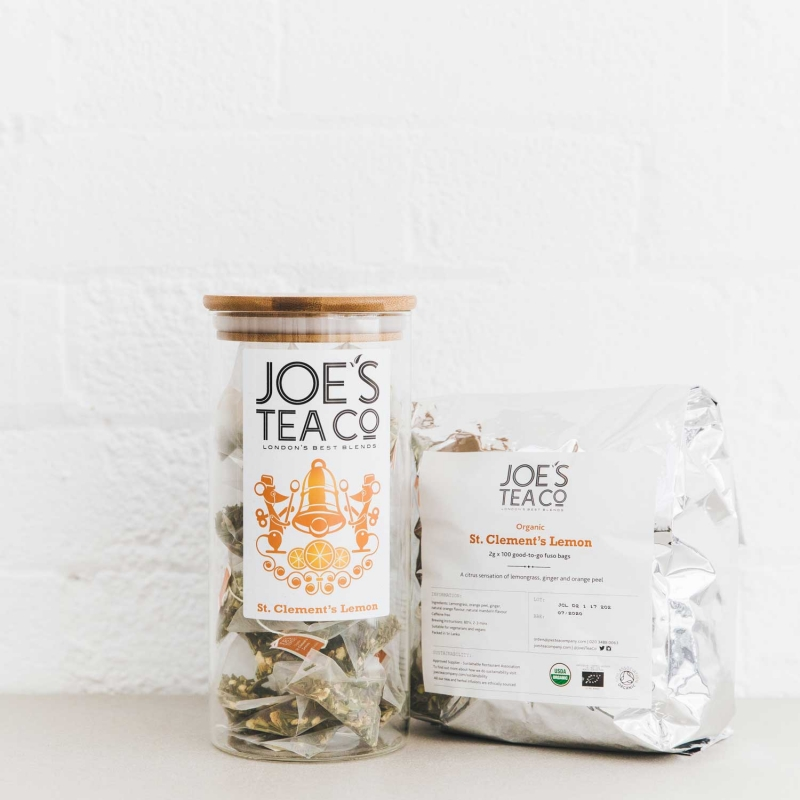 St. Clement's Lemon jar and 100ct - Joe's Tea Co.