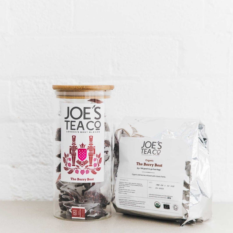The Berry Best jar and 100ct - Joe's Tea Co.