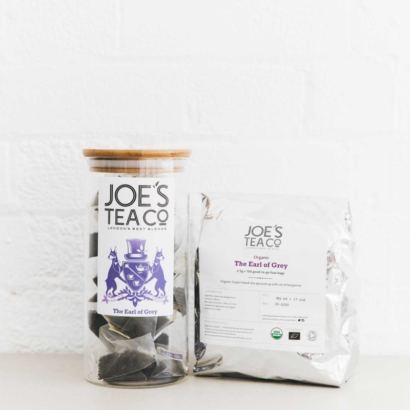 The Earl of Grey jar and 100ct - Joe's Tea Co.