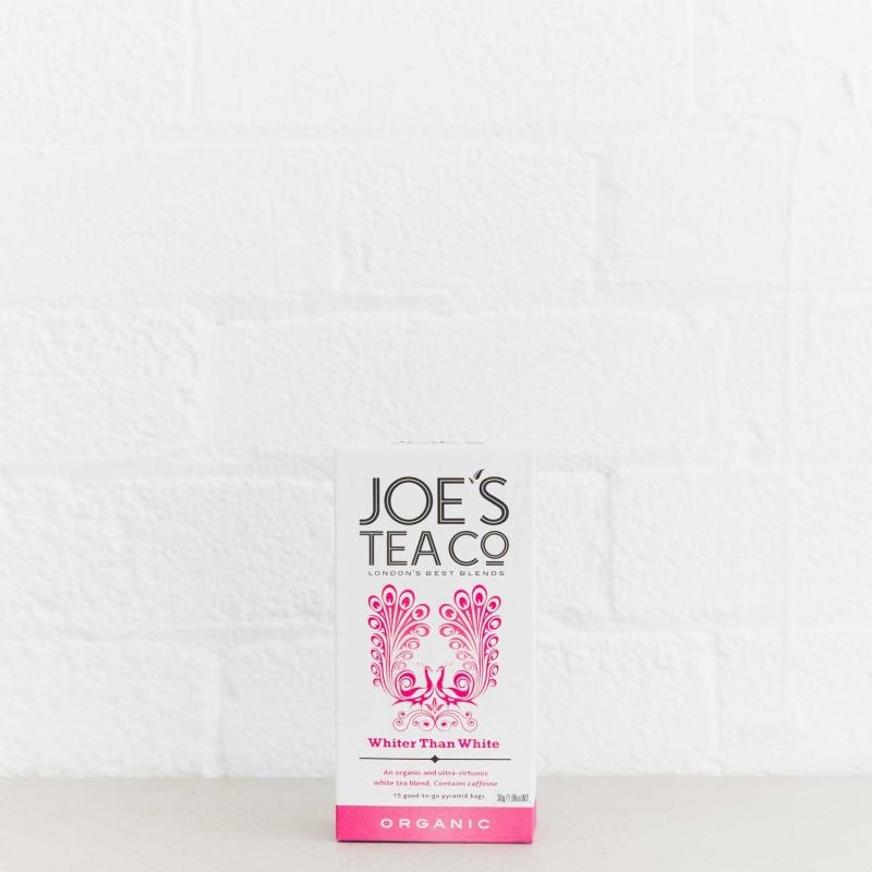 Whiter Than White retail front of pack - Joe's Tea Co.