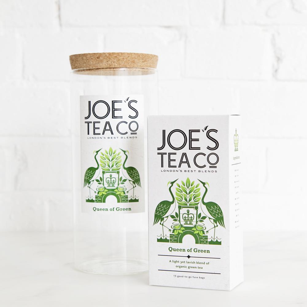 Joe's Tea Co. jar and tea