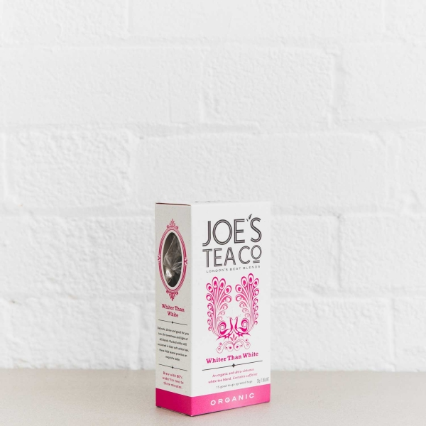 Whiter Than White retail side of pack - Joe's Tea Co.