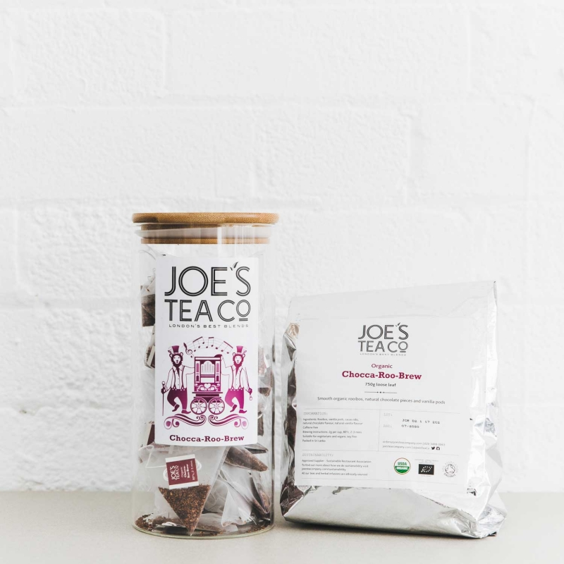 Chocca-Roo-Brew jar and 100ct - Joe's Tea Co.
