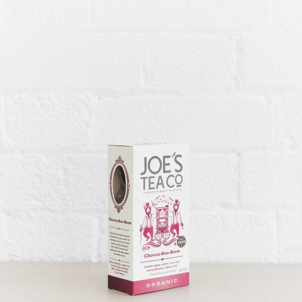 Chocca-Roo-Brew retail side of pack - Joe's Tea Co.