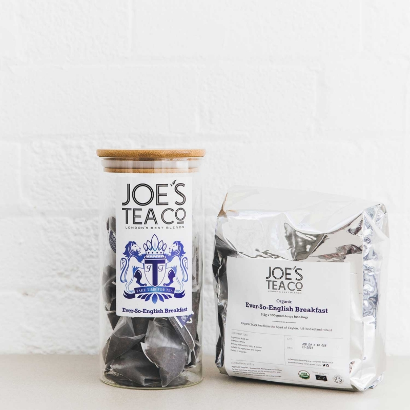 Ever-So-English Breakfast jar and 100ct - Joe's Tea Co