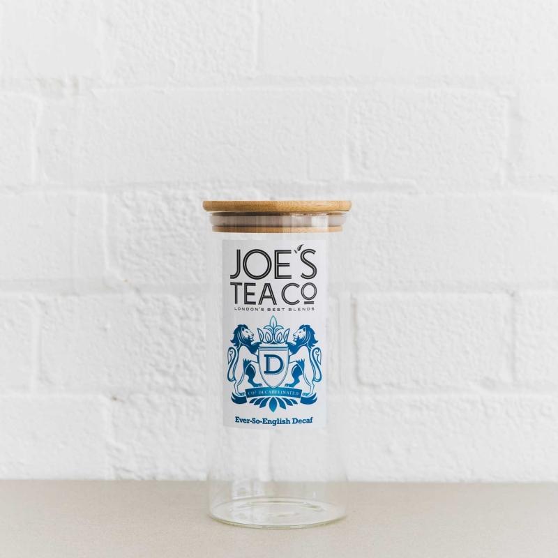 Ever-So-English Decaf jar - Joe's-Tea-Co.