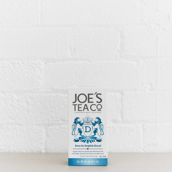 Ever-So-English Decaf retail front of pack - Joe's Tea Co.