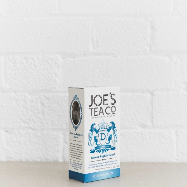 Ever-So-English Decaf retail side of pack - Joe's Tea Co.