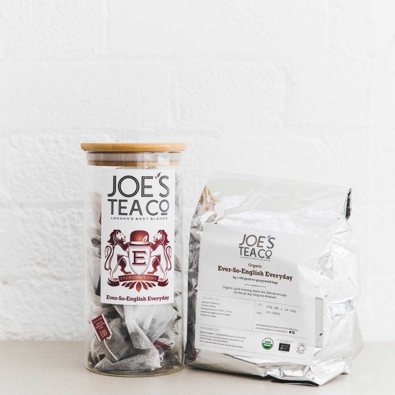 Ever-So-English Everyday jar and 100ct - Joe's Tea Co.