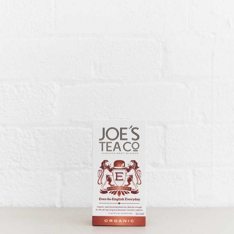 Ever-So-English Everyday retail front of pack - Joe's Tea Co.