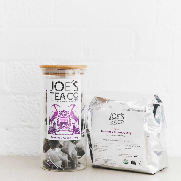 Jasmine's Green Glory jar and 100ct - Joe's Tea Co.