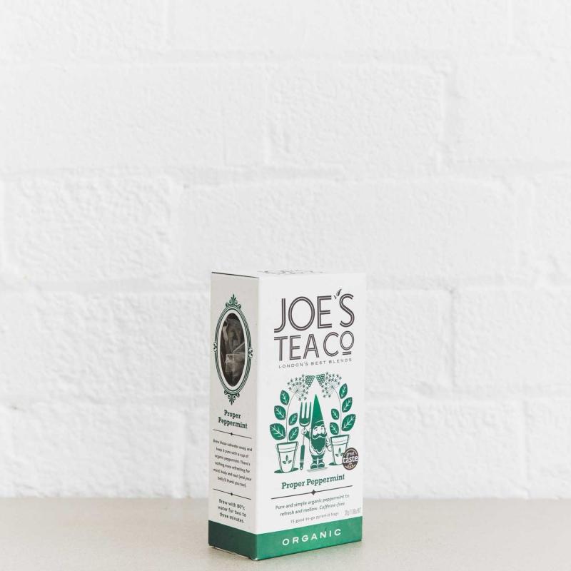 Proper Peppermint retail side of pack - Joe's Tea Co.