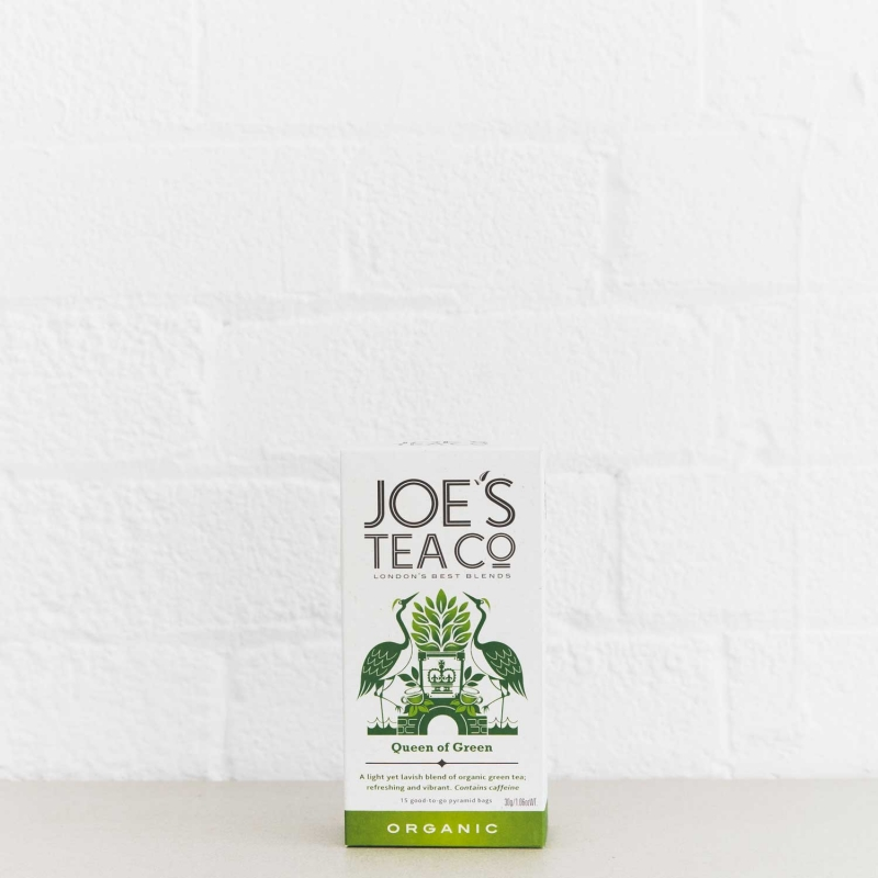 Queen of Green retail front of pack - Joe's Tea Co.