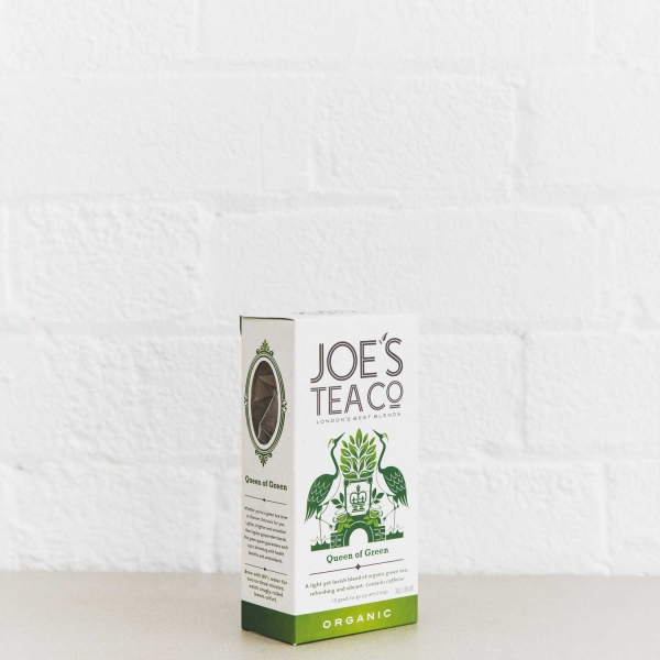 Queen of Green retail side of pack - Joe's Tea Co.