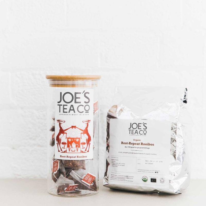 Rest-Repeat Rooibos jar and 100ct - Joe's Tea Co.