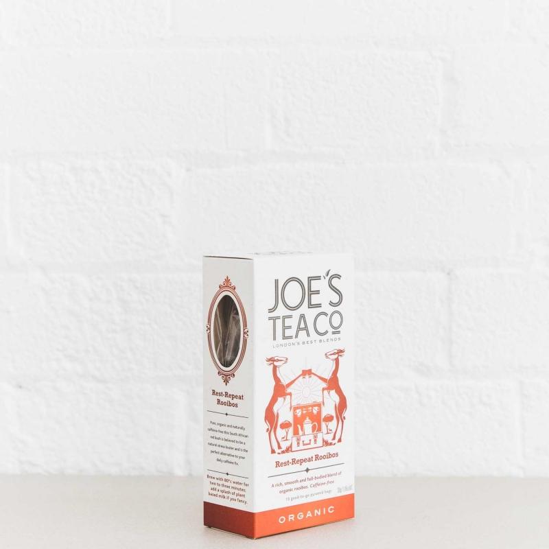 Rest-Repeat Rooibos retail side of pack - Joe's Tea Co.