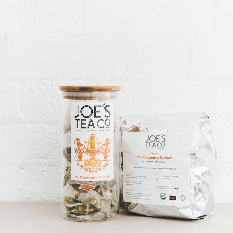 St. Clement's Lemon jar and 100ct - Joe's Tea Co.