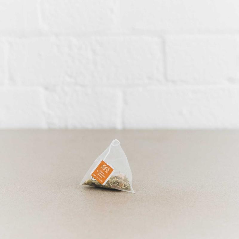St. Clement's Lemon pyramid bag - Joe's Tea Co.