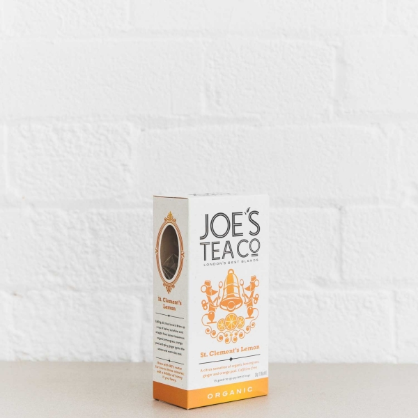 St. Clement's Lemon retail side of pack - Joe's Tea Co.