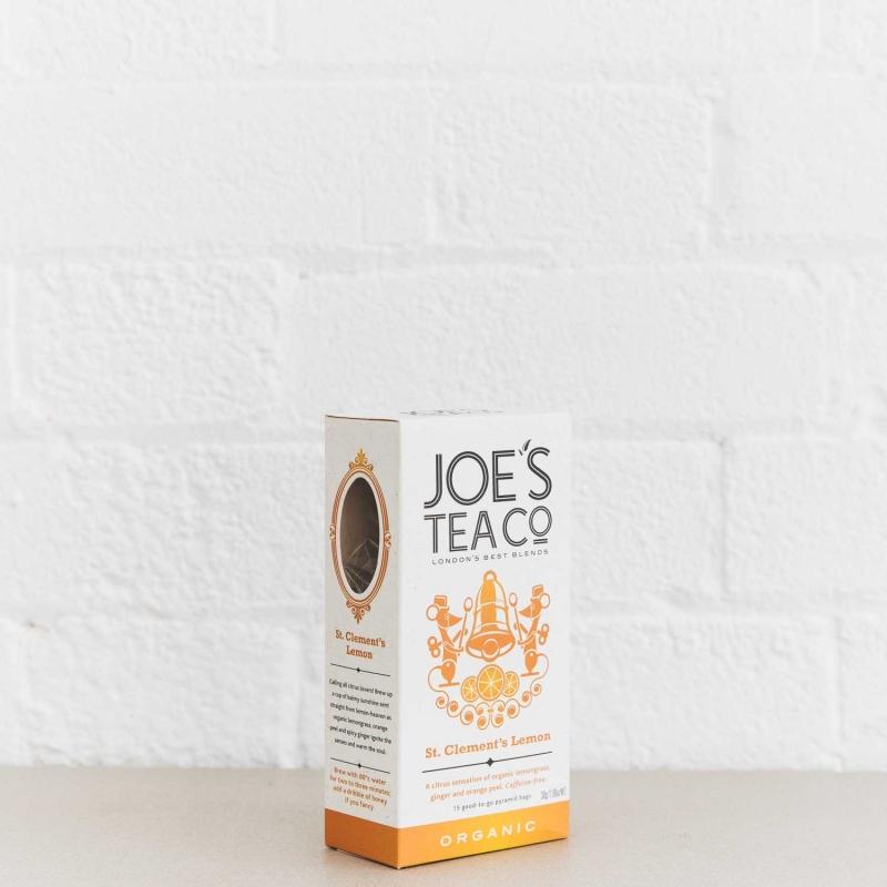 St. Clement's Lemon retail side of pack - Joe's Tea Co.