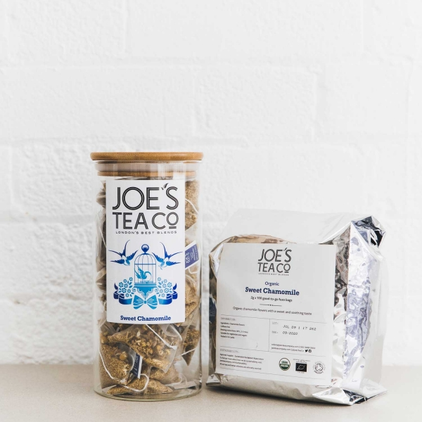 Sweet Chamomile jar and 100ct - Joe's Tea Co.