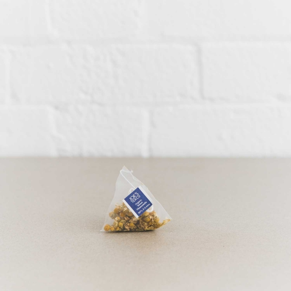 Sweet Chamomile pyramid bag - Joe's Tea Co.