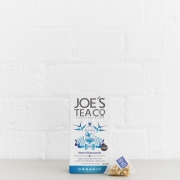 Sweet Chamomile retail front of pack with pyramid bag - Joe's-Tea-Co.