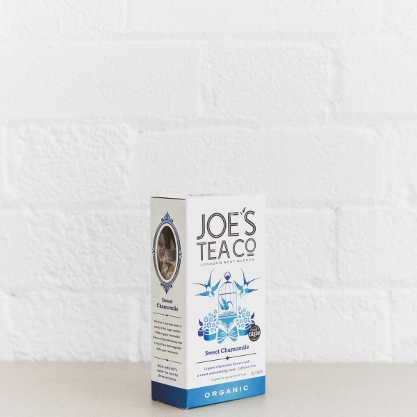 Sweet Chamomile retail side of pack - Joe's Tea Co.