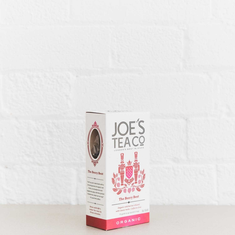 The Berry Best retail side of pack - Joe's Tea Co.