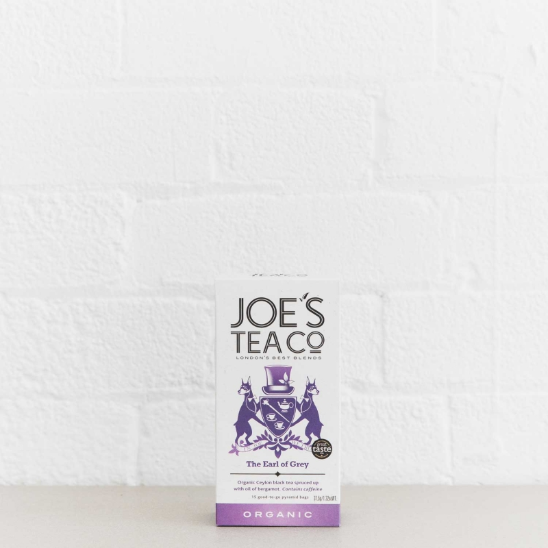 The Earl of Grey retail front of pack - Joe's Tea Co.