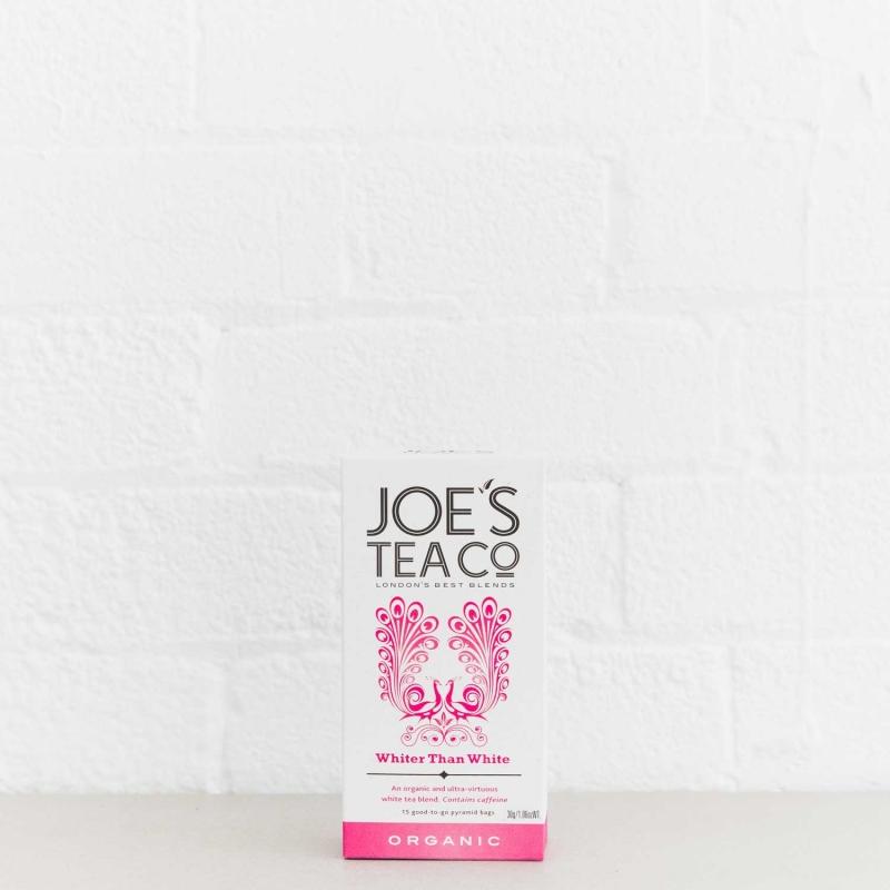 Whiter Than White retail front of pack - Joe's Tea Co.